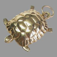 Vintage English 1978 9k 9ct Gold Turtle Tortoise Charm