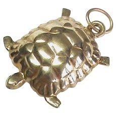 Vintage English 1978 9k 9ct Gold Turtle Tortoise Charm