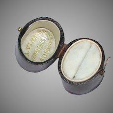 Antique Georgian Blackpool Ring Box