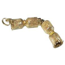 Novel English 1964 9k 9ct Gold Cracker Pendant or Large Charm