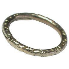 Antique Victorian 9k 9ct Gold Split Ring Clasp