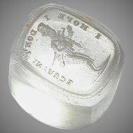 Antique 19th Century Loose Glass Intaglio Tassie Seal - I hope I don't Intrude