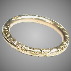Large Antique 19th Century 9k 9ct Gold Split Ring Clasp