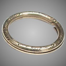 Antique Victorian 9k 9ct Gold Split Ring Clasp