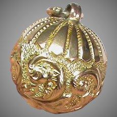 Antique Victorian c1900 9k 9ct Gold Ball Charm Fob