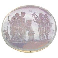 Antique 19th Century Loose glass Intaglio Seal