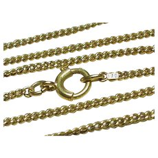"Antique Victorian 15k 15ct Yellow Gold Chain 3.7g 17"""