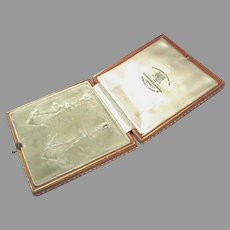 Antique Edwardian Earring Jewelry Box - Goldsmiths & Silversmiths Co Ltd
