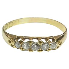Antique Victorian 18k 18ct Gold Diamond Ring