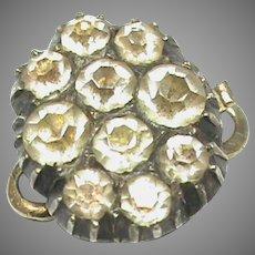 Antique Georgian Sterling Silver gilt Paste Clasp