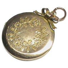 Antique Edwardian 9k 9ct Gold Back & Front Locket Pendant