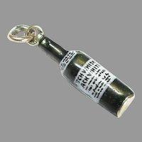 Vintage 15k 15ct Gold Enamel SCOTCH WHISKY Bottle Charm