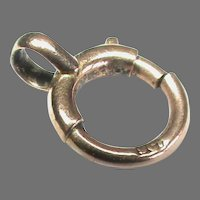 Antique Victorian c1900 9k 9ct Rose Gold Bolt Ring Clasp