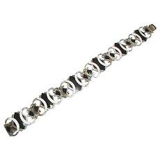 Vintage Sterling Silver Norwegian Enamel Bracelet