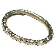 Antique 19th Century 9k 9ct Gold Split Ring Clasp