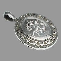 Large Quality Antique Victorian Sterling Silver Locket