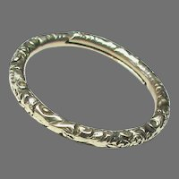 Antique 19th Century 9k 9ct Gold LARGE Split Ring clasp