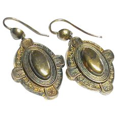 Antique Victorian 9k 9ct Gold Earrings