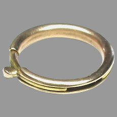 Big Antique Victorian 15k 15ct Gold Patented Bolt Ring Clasp for collar