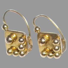 Antique French 18k 18ct Rose Gold Earrings