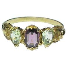 Antique Georgian 15k 15ct Gold Chrysoberyl Ring
