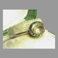 Antique Georgian 18k 18ct Gold & Sterling Silver Gemstone Ring in box