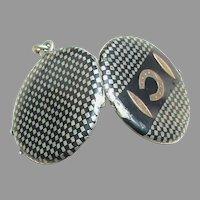 Antique Victorian Silver Niello Locket