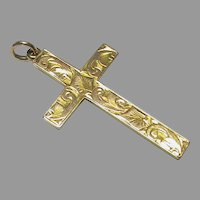 Vintage 9k 9ct Gold Cross Pendant