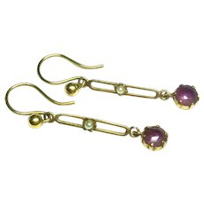 Antique Edwardian 9k 9ct Gold Earrings