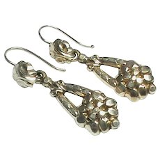 Antique Victorian gilt metal Earrings