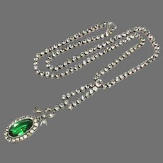 Antique Sterling Silver Paste Necklace