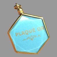 Antique French Gold Plated Double Sided Locket Pendant
