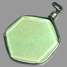 Antique French Silver 800-900 Double Sided Locket Pendant