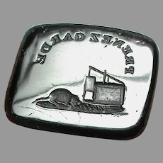 Antique 19th Century Loose Glass MOUSETRAP Intaglio Seal