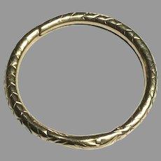 Large 19th Century 9k 9ct Rose Gold SNAKE Split Ring