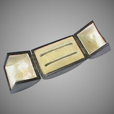 Antique Victorian Double Bangle Box - Goldsmiths to the Queen