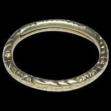 BIG Antique 19th Century 12k 12ct Gold Split Ring for seals, watch keys and fobs