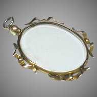Antique Edwardian 9k 9ct Gold Double Sided Locket Pendant