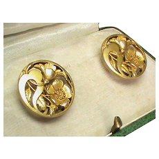 Antique French Art Nouveau Gold Filled FIX Cufflinks in box