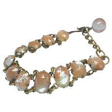 Antique Victorian Saphiret Bracelet with a ball charm