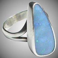 Vintage Sterling Silver Designer Opal Doublet Ring