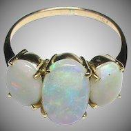 Vintage 15k 15ct Gold Opal Ring