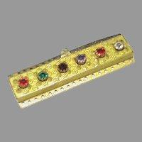 Antique Georgian gilt metal Acrostic REGARD Paste Clasp