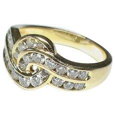 Quality Vintage 18k 18ct Gold Diamond Ring