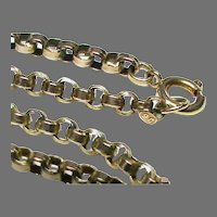 Antique Victorian 9k 9ct Gold Chain Necklace