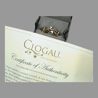 Quality 9k 9ct two color Welsh Clogau Gold Tree of Life Eternity Band Ring with box & certificate
