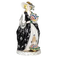 "Art Pottery 16"" full Figural Statue of a Grand Lady"
