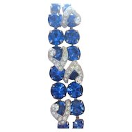 EISENBERG Ice all vivid Montana blue and clear rhinestone bracelet