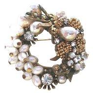 Original by Robert filagree gold plated pendant pin
