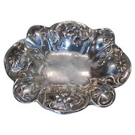 Art Nouveau silver quadruplate floral bowl by Barbour Silver & Co